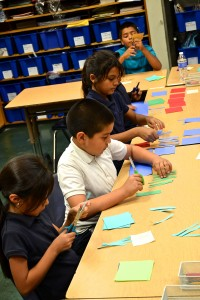 Intense concentration and effort were the norm among students in Dave Berk's class.