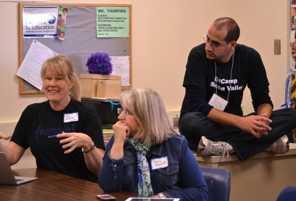 EdCamps, like this one in Palo Alto (2/22/14) offer teachers a chance to learn from each other informally.