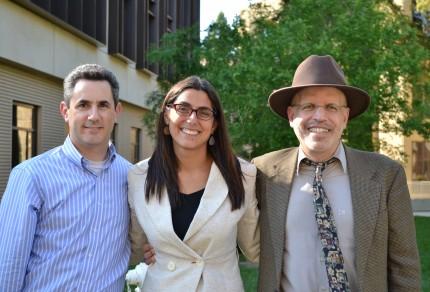 Larry Ferlazzo (r), with Tara Kini, and me.