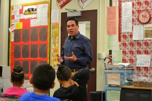 Pete Aguilar at Riley Elementary