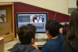 Within minutes of interviewing me, students at Desert Springs Middle School are editing the video for broadcast.