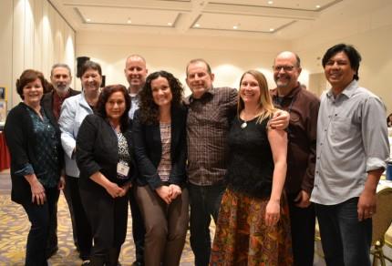 From left: Merri Boston, Yale Wishnik, Sheila Bell, Anita Benitas, Charles Shannon, Erika McGuire, Mike Wilmarth, Tara Nuth Kajtaniak, Dick Gale, Eric Enriquez.