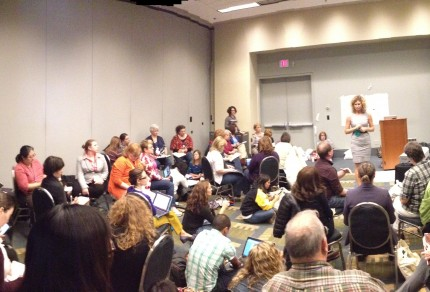 More than a full-house for a Sarah Brown Wessling presentation at the 2014 Teaching and Learning Conference.