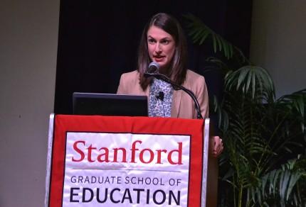 Dana Goldstein at Stanford Univ., 5/7/15.