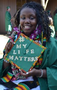 One of my former students, Mariah, preparing to graduate.