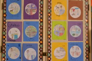 Gratitude mandalas from the classroom of Palo Alto teacher Jennifer Harvey.